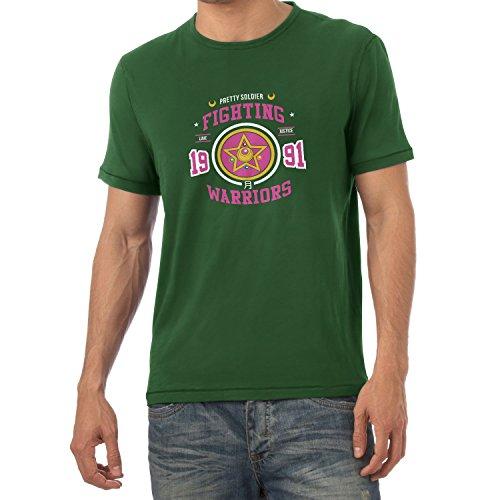 TEXLAB - Pretty Soldier Fighting Warriors - Herren T-Shirt Flaschengrün