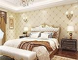 BIZHI Vliestapete/3D Moderne Minimalistische TV-Hintergrundwand/Warm, Schlafzimmer, Beflockung Tapete, 0.53 * 10M, Yellow