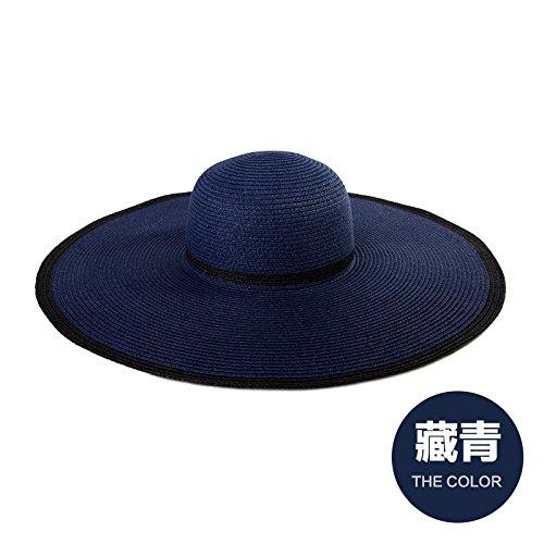 LLZTYM Chapeau/Femelle/Été/Chapeau/Chapeau/Plage/Pare-Soleil/Chapeau/Tête/Cadeau Blue
