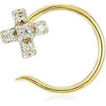 Senco Gold 14KT Yellow Gold and Diamond Nose Pin for Women
