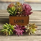 Home Garden Indoor Best Deals - 3pcs Artificial Fake Succulent Plants Landscape Fake Flower Home Garden Mini Pot Ornament