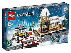 Idea Regalo - LEGO Creator 10259 Giocattolo da costruzione-Stazione ferroviaria invernale