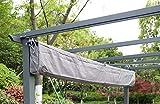 Angel Living Housse de Toit supérieur, 170g/m2 Polyester avec Revêtement PA (pour 3x4M tonnelle, Gris)
