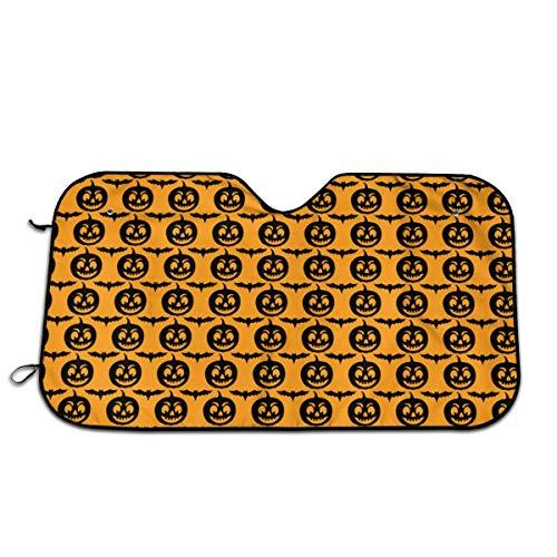 Süße Halloween Fledermäuse Jack O Laternen Windschutzscheibe Sonnenschutz Auto Sonnenschutz für Auto SUV Trucks Minivan Automotive Hält Fahrzeug Armaturenbrett Cool Hitzeschild Schatten 28