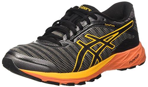 Asics Dynaflyte, Zapatos para Correr para Hombre, Gris (Carbon/Black/Citrus), 46 EU