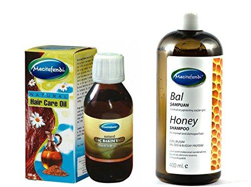 mecite Fendi Miel Shampoing 400 ml plus mecite Fendi Huile naturelle soins des cheveux 100 ml, pointe pour cheveux normaux et abîmés.