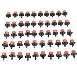 Heroneo 50 pezzi giardino irrigazione a goccia Micro foschia flusso di testa 0,64 cm tubo