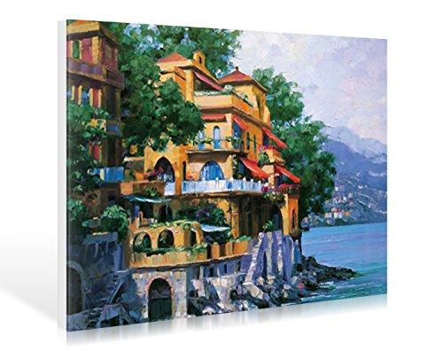 Leinwandbild Howard Behrens - Portofino Villa - 86 x 60cm - Premiumqualität - MADE IN GERMANY - ART-GALERIE-SHOPde -