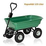 Aufun Gartenwagen Gartenkarre bis 350 kg Belastung Handwagen Kippfunktion...