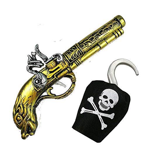 PICCOLI MONELLI Accessori Capitano uncino Bambino Set Pirata Pistola e uncino