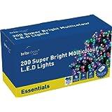 Brite Ideas Festive 200 Multiaction LED Lights, Multicolour