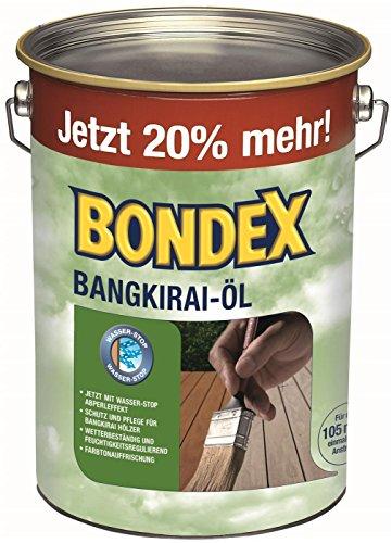 Bondex Öl-Konservierungsstoffe aus Hartholz Öl aus 4,8Liter Bangkiraiöl