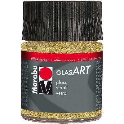 13029005-584MARABU Glasart 50ml-glitter Gold - Gold Scrapbooking Brads