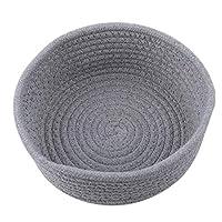 Hengxing Cotton Basket Natural Thread Woven Rope Storage Basket Bin Hamper For Nursery Kid