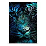 DIY 5D Diamond Painting -BESTVECH Tiger Embroidery DIY Cross Stitch Home Wall Decor Gifts