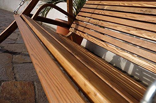 Design Hollywoodschaukel RIO aus Holz Lärche mit Dach von AS-S - 8