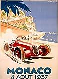 Wise Degree 8es Vintage Retro Shabby-Chic Racing Monaco