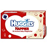 Huggies Happies trockene Baby-Pflegetücher - 90 Stück
