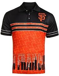 "San Francisco Giants MLB ""Wordmark Skyline"" Men's Sublimated Polo Shirt Chemise"