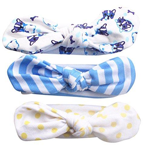 Hocaies 3 Stück Baby Mädchen Stirnbänder verknotete Baby Stirnbander Baby Top Knot Madchen Turban Headwrap Knot Stirnband Kleinkind Stirnband vor Ort Kaninchenohren Knit (14)