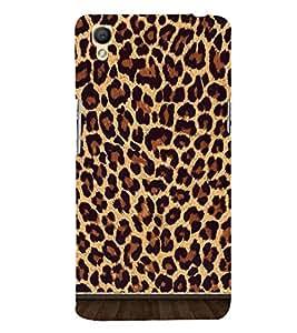 Fiobs Designer Back Case Cover for Oppo A37 (Animal Cheetah Chug Black Green Art)