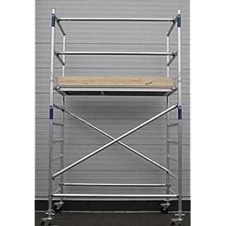 AluMark Fahrgerüst Gerüst Rollgerüst AB090 - 200 Arbeitshöhe: 4,3m