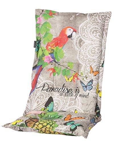 Madison 8 cm Luxus Hochlehner Auflage A 031', Mehrfarbig mit Schmetterling und Papagei, 120 x 50 x 8...