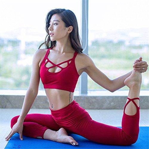 Reggiseno di sostegno di alto impatto della sfera di sport di yoga di sport delle donne Rosso