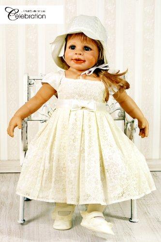Babykleid Festkleid Sommerkleid Kleid ivory Gr. 80 Set 2-teilig Modell 4792