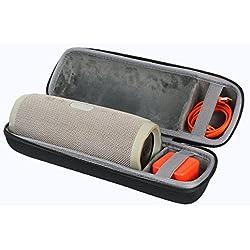 Étui de Voyage Rigide Housse Cas pour JBL Charge 3 Enceinte Portable étanche par co2CREA(Speaker Case) (Noir 2)