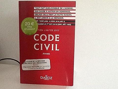 Code civil, édition limitée 2017