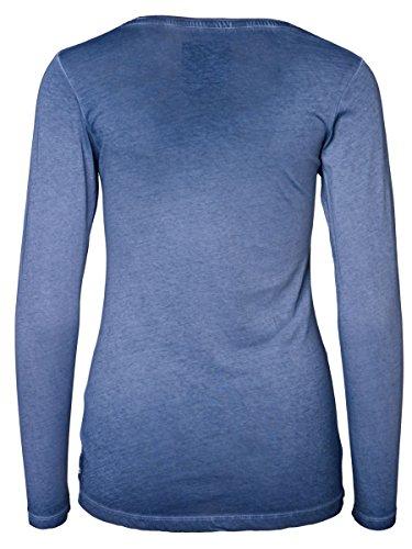 DAILY'S ANN cold pigment dyed Damen Langarmshirt mit Rundhalsausschnitt aus 100 % Bio-Baumwolle - soziale fair trade Kleidung, Mode vegan und nachhaltig Color midnight, Size S - 2