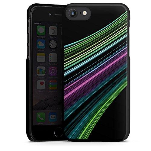 Apple iPhone X Silikon Hülle Case Schutzhülle Muster Gestreift Streifen Hard Case schwarz