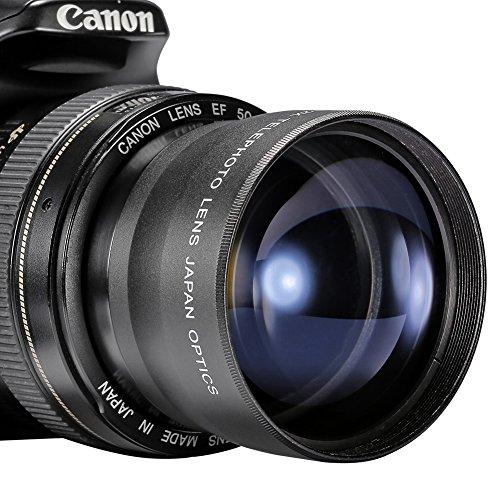 Neewer® 58mm 2X Telefoto lentes para Canon, Nikon, Olympus, Sony, Pentax, Samsung y otras lentes para cámaras DSLR con 58mm rosca de filtro