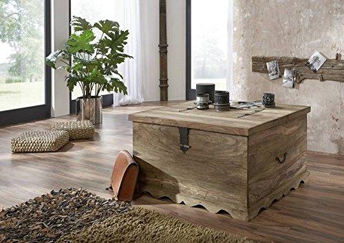 MASSIVMOEBEL24.DE Kolonialart Massivholz Möbel Palisander grau Truhe Sheesham geölt massiv Möbel LEEDS #31