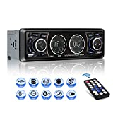 Lettore MP3 auto, Mekuula Autoradio Bluetooth ricevitore Car Radio Station 4x60W 1 DIN Stereo Car Player Supporta FM / USB / Micro SD / AUX / Bluetooth / Telecomando