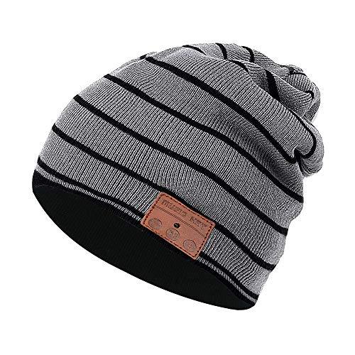Color You Cuffia Bluetooth Beanie Music Hat Cappello Invernale Lavabile con Cuffia Stereo con Altoparlante Stereo per la Corsa, Sci, Pattinaggio, Regali di Natale per Uomo Donna (Style 3)