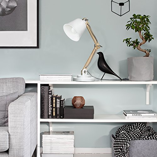 Tomons lampada da scrivania comodino con braccio girevole for Lampada a led camera da letto