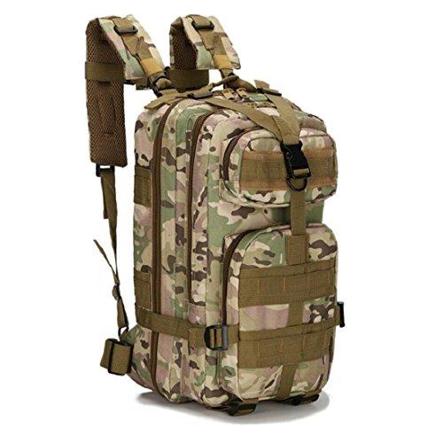 LF&F Backpack Camping outdoor Zaini Borse Tattiche militari sport all'aria aperta 21L Oxford impermeabile traspirante camuffamento Tattiche 3p doppio zaino spalle G 21L F