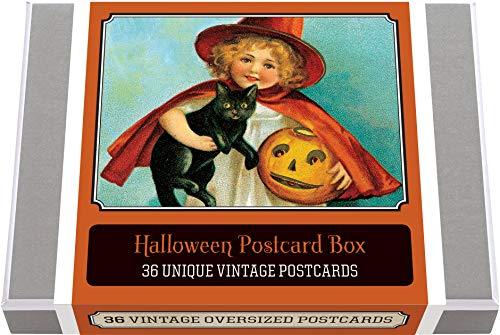 Halloween Postcard Box - 36 Unique Vintage Postcards: Halloween Boxed Postcard Set (Greeting Cards)