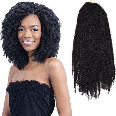 """GANTA @ Dunkel schwarz 17 """"kanekalon afro kinky Zöpfe Twist Havana lockige synthetische Haare Zöpfe 100g , 1 pack"""