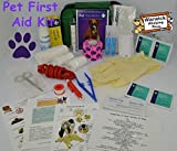 Warwick Pet First Aid Kit Comprehensive with paw print bandage and 50ml Hand sanitiser foamer