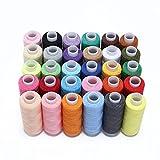 Hamhsin 30pcs Fil à coudre Ensemble–Tous usages Polyester kit de fil–Chaque 228,6m pour répondre à la main ou machine à coudre