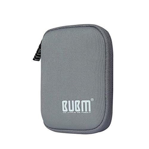 BUBM Soft Mini Tasche Aufwahrungstasche mit 6 Kapazität für USB Drive Shuttle (Grau) -