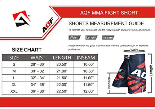 AQF-MMA-Fight-Shorts-Grappling-Kick-Boxing-UFC-Cage-Fighting-Shorts-Mens-Black-Causal-Shorts