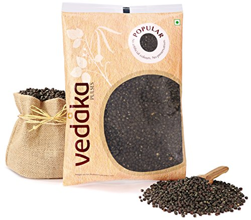 Amazon Brand – Vedaka Popular Black Urad Whole/Sabut, 500g