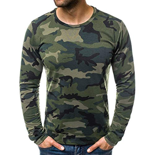 VBWER Herren Wunderschön O-Neck Sweatshirt Männer Hoodies Freizeit Sweatshirt Pullover Jacke Sweatjacke Kapuzenjacke Top Outwear Bluse 100% Baumwolle