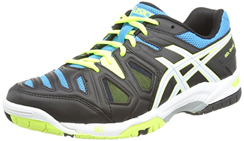 ASICS Gel-Game 5, Men's Tennis Shoes, Onyx/White/Atomic Blue, 9 UK