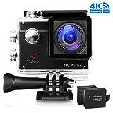 Victure Action Kamera 4K WIFI Unterwasserkamera Sport Cam 20MP Ultra HD Helmkamera Wasserdicht für...