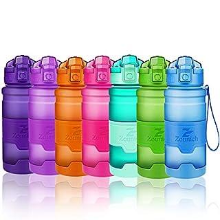 ZOUNICH Sport Trinkflasche BPA frei Auslaufsicher Wasserflasche 400ml/500ml/700ml/1L Kunststoff Geeignet Sporttrinkflaschen für Joggen,Fahrrad,Kinder Schule,öffnen mit Einer Hand Trinkflaschen